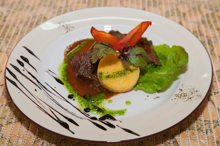 appetizing: appetizing dish of liver sauce