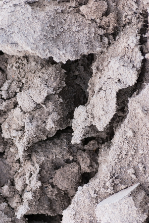 cracked texture of sand, soil cover