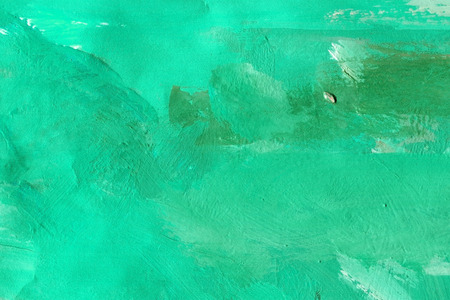 painted background: Abstract art. green background painted with watercolors Stock Photo