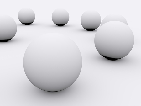 circumference: balls abstract background. 3d Stock Photo
