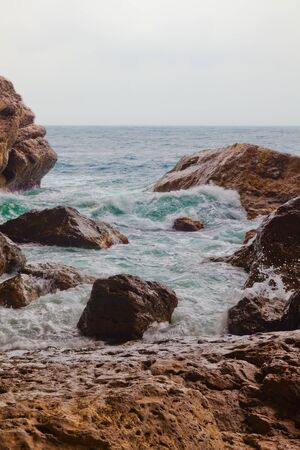 blue lagoon: mornimg in Bay in Crimea. country Ukraine