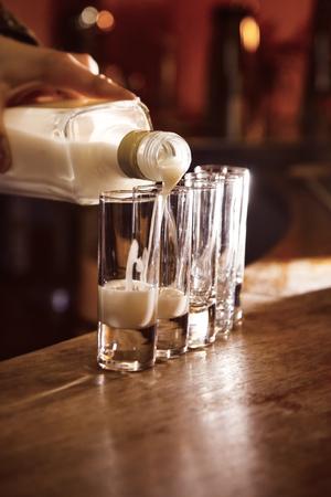 longdrink: alcohol drink on bar. cocktail