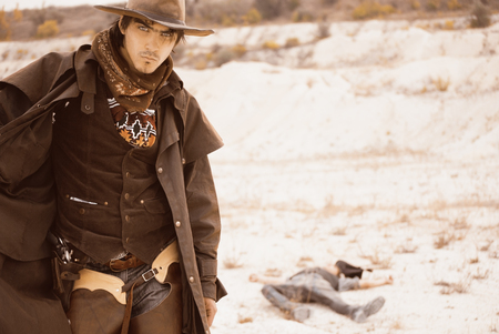 duel between cowboys. affair of honor Stock Photo