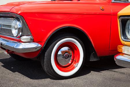 part of retro auto. close-up