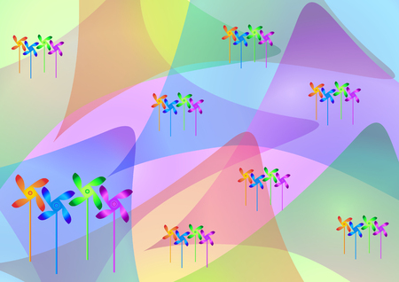 Beautiful vector abstract background with color overlay.