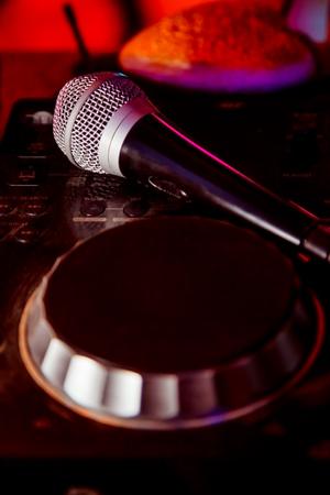 nightclub parties DJ. sound equipment