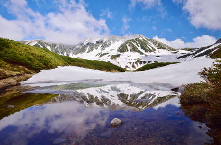 Early summer scenery in Tateyama alpine, Japan