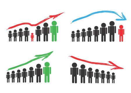Indicators of changes situation Illustration