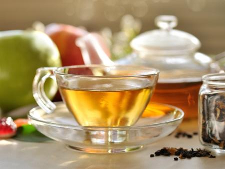 tea hot drink: green tea set