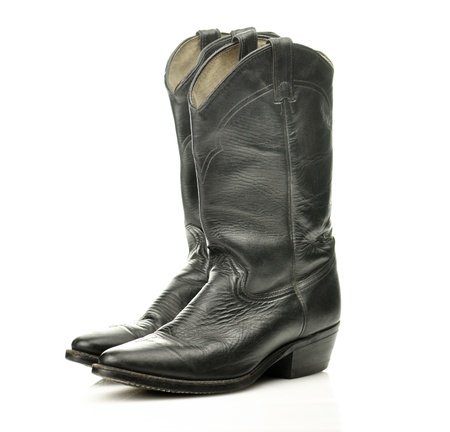 black cowboy boots Stock Photo - 8645249