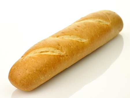 A loaf of fresh baked french or italian bread  photo