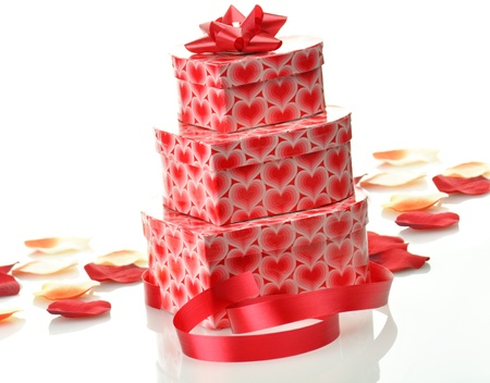red gift boxes Stock Photo - 8648919
