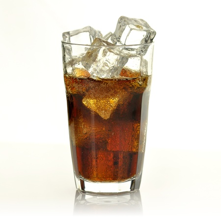 fizzy: cola with ice cubes