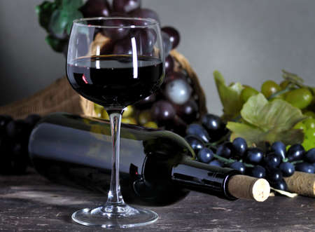 composition: red wine composition Stock Photo