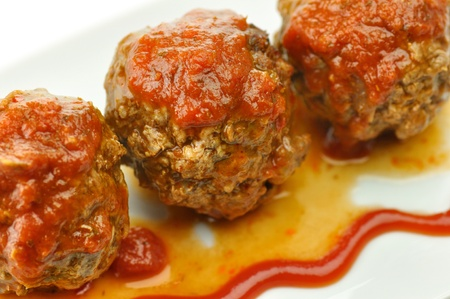meat balls with tomato sauce  photo
