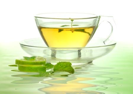 tea hot drink: green tea Stock Photo