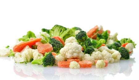 frozen: Frozen vegetables  Stock Photo