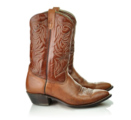 boot: brown cowboy boots