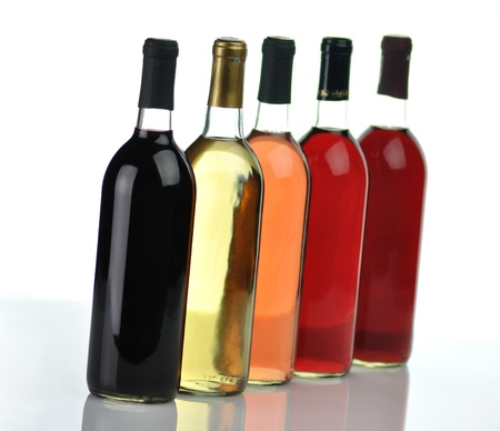 assortment of wine bottles