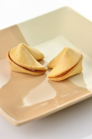 fortune cookies on a plate  Stock fotó