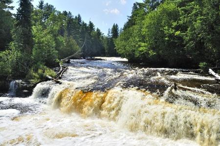 Lower Tahquamenon Falls in Michigan photo