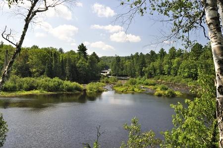view of Upper Tahquamenon Falls in Michigan  photo