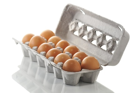 egg box: eggs in the box