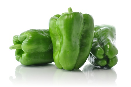 pimenton: sweet green pepper  Foto de archivo
