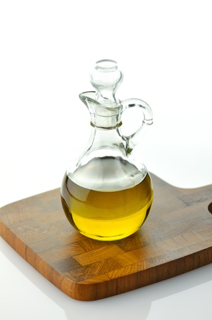 cooking oil: A bottle of olive oil