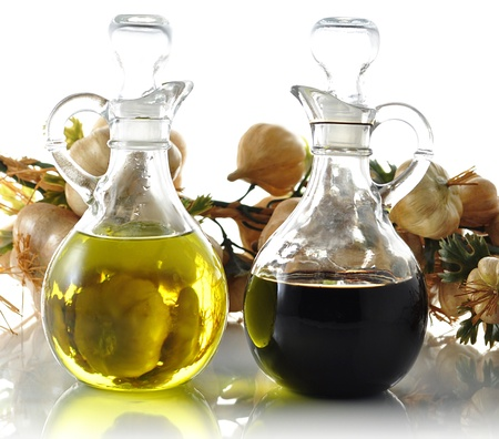 cooking oil: oil and vinegar