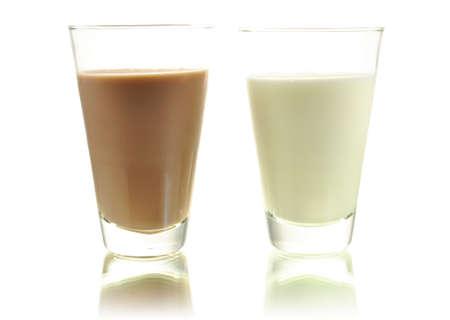 milk and chocolate milk Zdjęcie Seryjne - 9074903