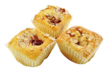 raspberry cupcake with almonds Stock Photo - 9074962