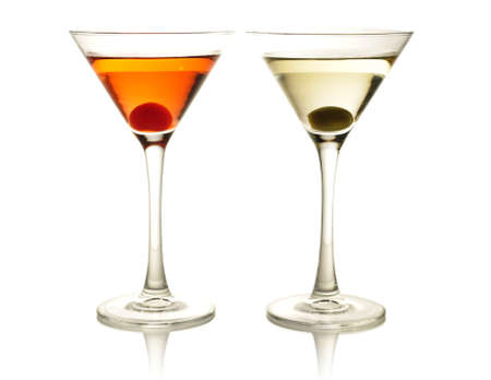 cocktails with olive and cherry Stock Photo - 9099823