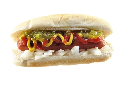 assaporare: hot dog  Archivio Fotografico