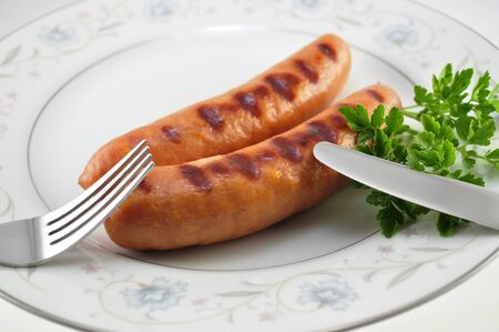 cheese sausages on a plate  photo
