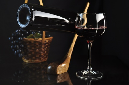 crystal background: golf club wine  Stock Photo