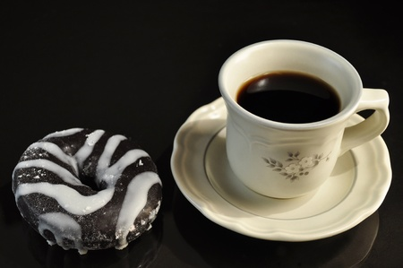 donut and coffee photo