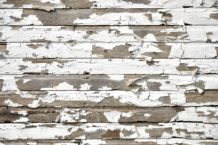 Cracked and peeling paint on wood texture  Stock Photo
