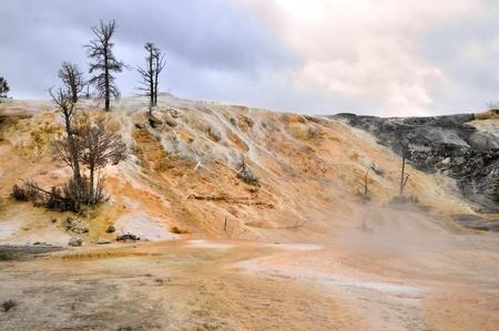 Mammoth Springs. Yellowstone National Park, Wyoming