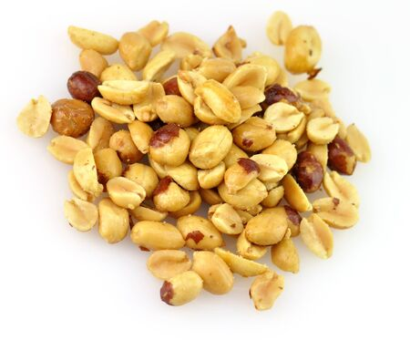 earthnuts: A Pile Of Roasted Salty  Peanuts