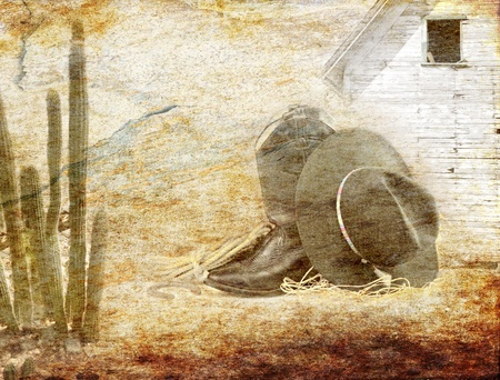 rusty background: old grunge cowboy style  texture for background Stock Photo