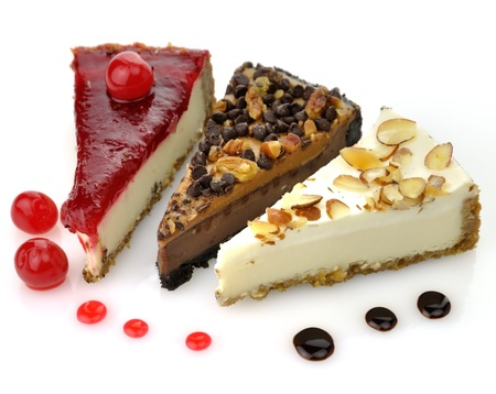slices of cheesecakes , close up Zdjęcie Seryjne