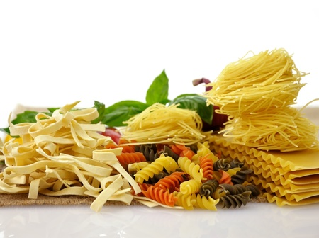 Assortment Of Italian Pasta , Close Up Shot