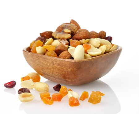 frutas secas: Delicioso y saludable mezcla de frutas secas, nueces y semillas Foto de archivo