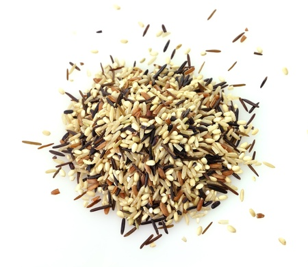 a gourmet blend of wild and whole grain brown rice Stok Fotoğraf