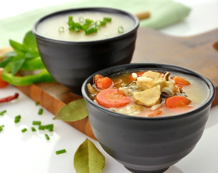 Chicken And Wild Rice Soup And Potato Cream Soup