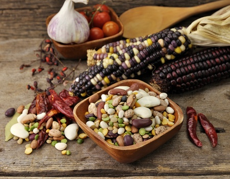 Colorful Mix Of  Beans, Lentil, Green And Yellow Peas  photo