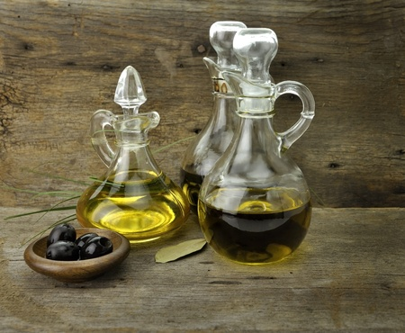 Vegetable And Olive Oil With Balsamic Vinegar Фото со стока - 11185041