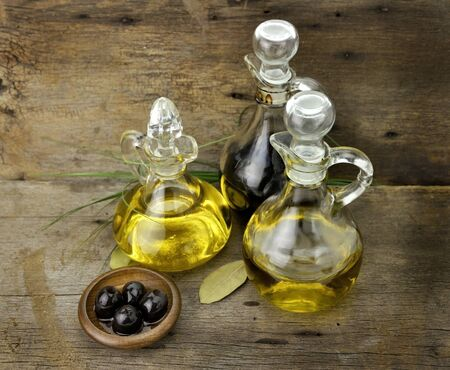 Vegetable And Olive Oil With Balsamic Vinegar photo