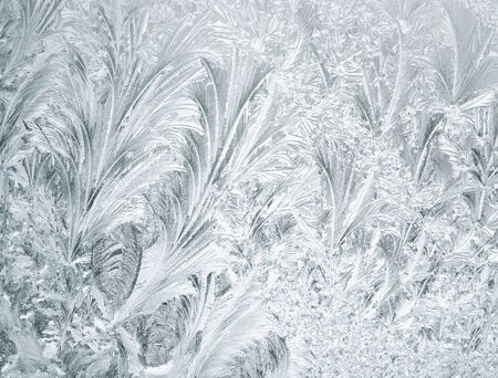 Frost On A Window ,Close Up ,For Background photo